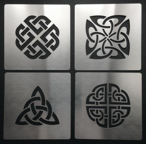 Celtic Knot Dara Trinity Quaternary Shield Stencil Metal