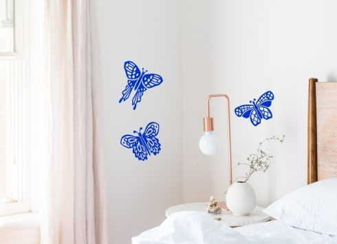 Lace Butterfly Trio Wall Stickers