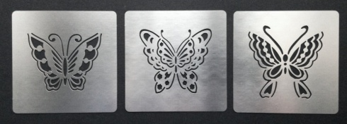 Chinese Embroidery Style Butterfly Stencil