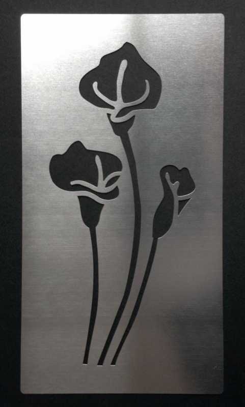 Calla Peace Lily Flower Stainless Steel Stencil Metal Monkey