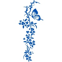Floral Blossom with Butterfly Wall Sticker