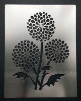Chrysanthemum Flower Stencil