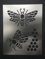 Honey Bees Honeycomb Stencil