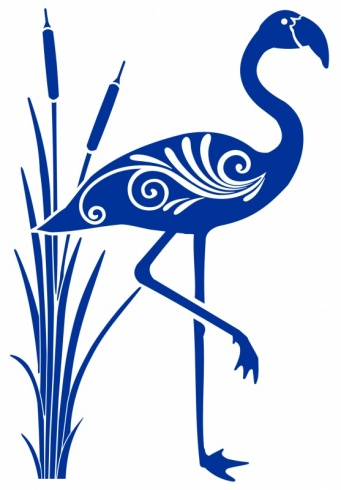 Art Deco Flamingo Bird Sticker