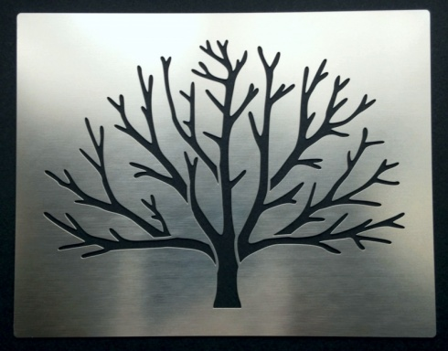 Winter Bare Tree Branches Stencil