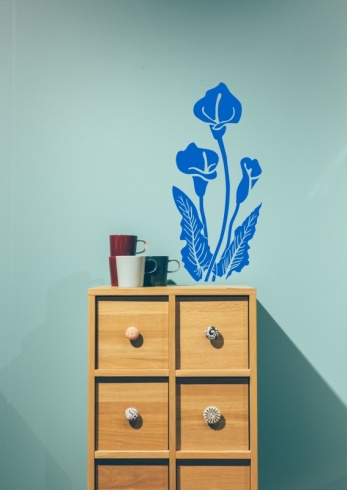Calla Lily Window Wall Sticker