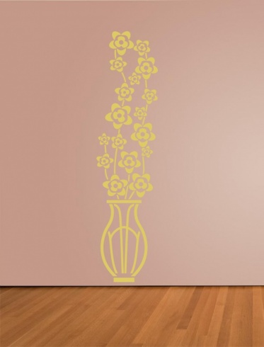Chinese Vase Blossom Wall Sticker