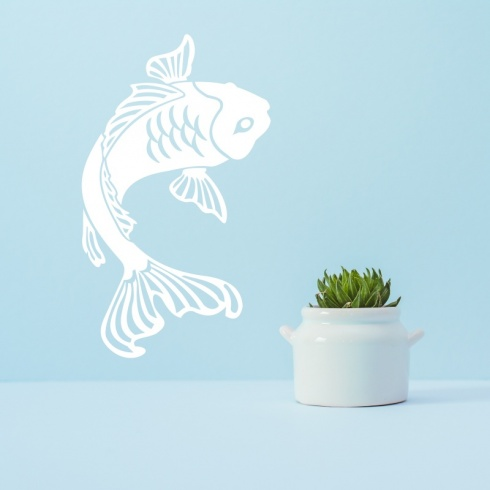 Chinese Oriental Koi Singles Wall Stickers