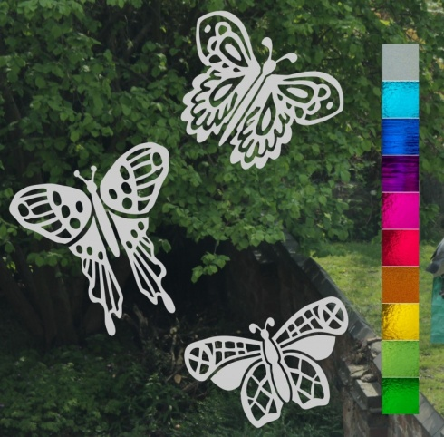 Lace Butterfly Trio Stickers