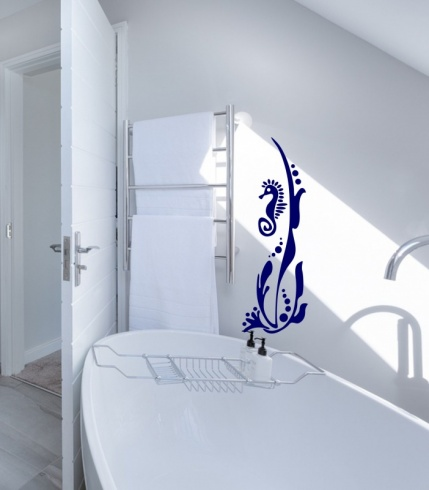 Seahorse in Seaweed Wall Sticker