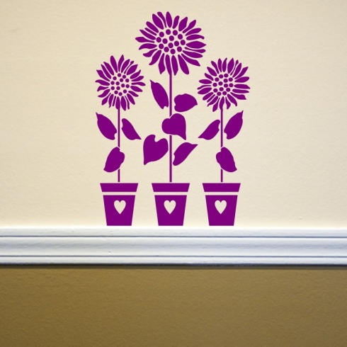 Sunflower Trio Wall Sticker