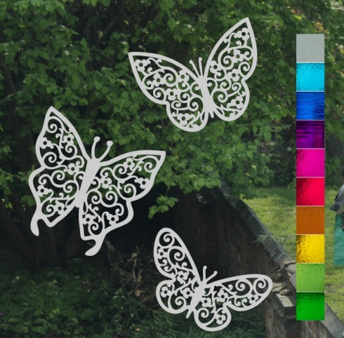 Filigree Butterfly Trio Stickers