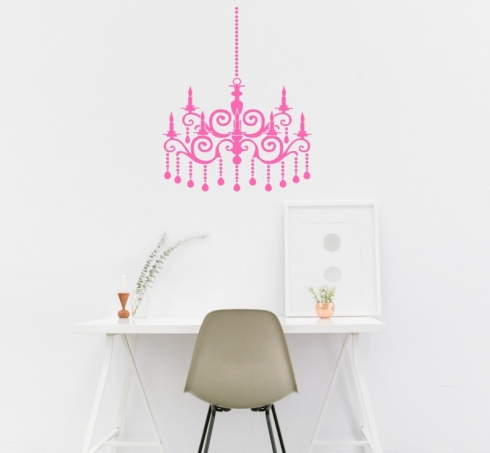Ornate Chandalier Wall Sticker