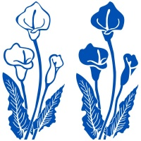 Calla Lily Window Sticker