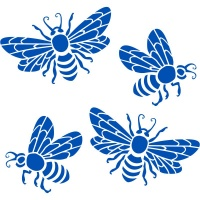 Honey Bee - set of 4 Wall Stickers