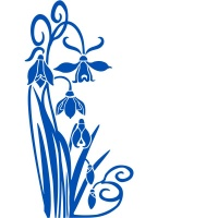Snowdrop Corner Frost Etch or Stained Glass Effect Window Greenhouse Sticker