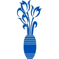 Tulips in Vase Sticker