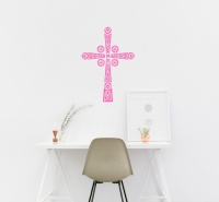 Byzantine Cross Wall Sticker