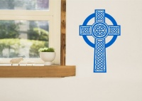 Celtic Cross Wall Sticker