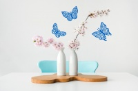 Filigree Butterfly Trio Wall Stickers