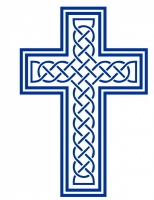 Lattice Cross Window Sticker