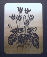 Cyclamen Winter Flower Stencil