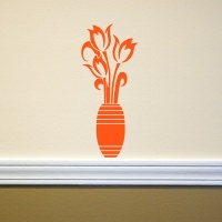 Tulips in Vase Wall Sticker