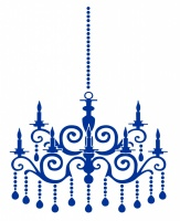 Ornate Chandelier Sticker