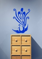 Art Deco Style Peacock Wall Sticker