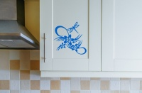 Flowers with Dragonfly Wall Sticker