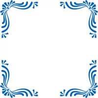 Ribbon Damask Corner Wall Stickers (Set of 4)